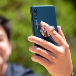 Držák na telefon - finger ring - 146270 - stříbný