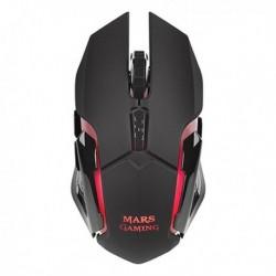 Herní myš s LED MMW - 3200 DPI - černá - Mars Gaming