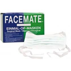 Hygienická operační rouška - šitá - bílá - 1 ks - Facemate