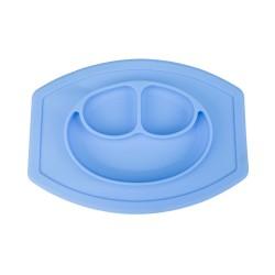 Silikonová podložka a talíř pro děti - modrá