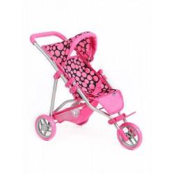 Sportovní kočárek pro panenky Olivie - růžový - PlayTo