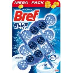 WC blok - 3x 50 g - Blue Aktiv - Chlorine - Bref