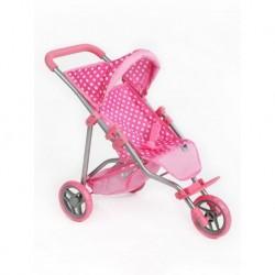 Sportovní kočárek pro panenky Olivie - světle růžový - PlayTo
