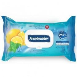 Antibakteriální vlhčené ubrousky - citron - 120 ks - Freshmaker