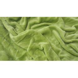 Mikroflanelové prostěradlo - hráškově zelené - Aaryans