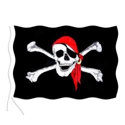 Pirátská vlajka - 90 x 150 cm - Rappa