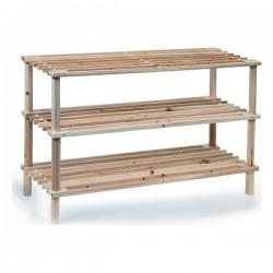 Botník se třemi policemi - dřevěný - Confortime