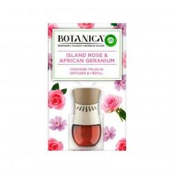 Elektrický osvěžovač vzduchu + náplň - Botanica - Islandská růže a africká pelagronie - 19 ml - Air Wick