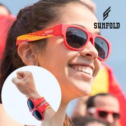Skládací sluneční brýle - Mondial - Španělsko - červené - Sunfold