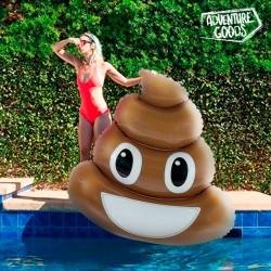 Nafukovací lehátko - Poo emoji - Adventure Goods