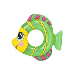 Dětský nafukovací kruh - rybka - zelený - Bestway