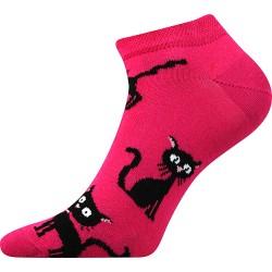 Dámské kotníkové ponožky - Kočka - Boma