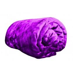 Deka z mikroflanelu - 150 x 200 cm - fialová - Aaryans