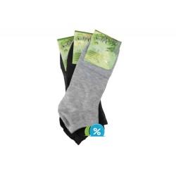 Pánské kotníkové bambusové ponožky NM30101B - 3 páry - NaiGe