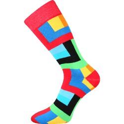 Unisex ponožky - Čtyřuhelníky - Voxx