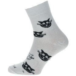 Unisex ponožky - Bílé kočky - WiTSocks