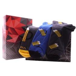 Dárkový set 3 párů kotníkových ponožek - Pivo - Voxx