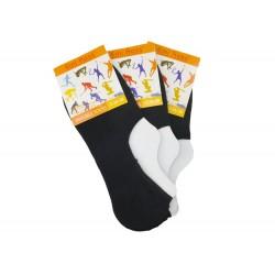 Dámské podkotníkové bavlněné ponožky - 3 páry - Emi Ross