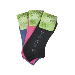 Dámské bambusové kotníkové ponožky NW10108 - 3 páry - Naige