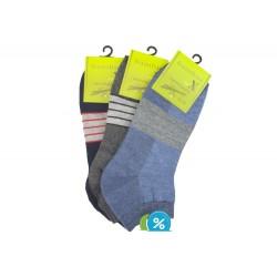 Pánské kotníkové bambusové ponožky BB18607 - 3 páry - Bambus soX