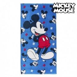 Plážová deka z bavlny 75491 - Mickey Mouse - modrá