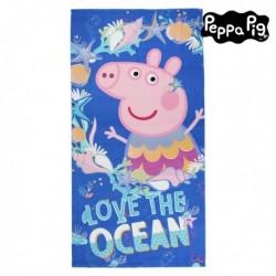 Plážová deka z mikrovlákna - Prasátko Peppa - modrá
