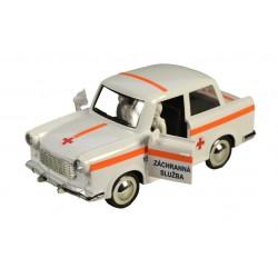 Retro autíčko Trabant 601 na setrvačník - záchranná služba - 18 cm