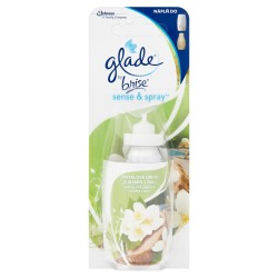Náplň do osvěžovače Sense & Spray - Glade - santalové dřevo a jasmín - 18 ml - Brise