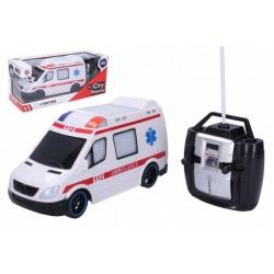 RC autíčko - sanitka - 27 MHz - 20 cm