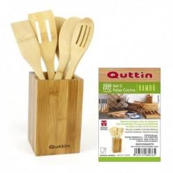 Sada bambusového kuchyňského náčiní - 5 ks - Quttin