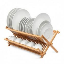 Skládací odkapávač - bambusový - Quttin