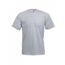 Pánské bavlněné tričko - světle šedé - žíhané - Fruit of the Loom