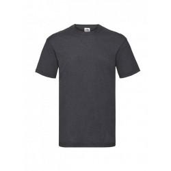 Pánské bavlněné tričko - tmavě šedé - žíhané - Fruit of the Loom