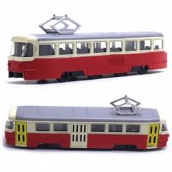 Kovová tramvaj Tatra T3 - 18,5 cm - červená