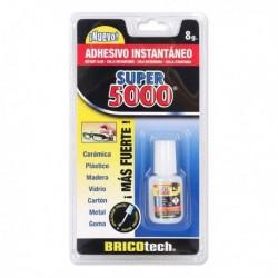 Vteřinové lepidlo Super 5000 + štětec - 8 g - Bricotech