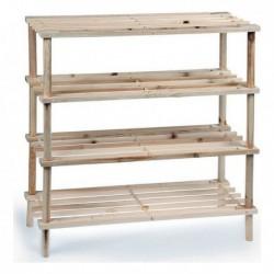 Botník se čtyřmi policemi - dřevěný - Confortime