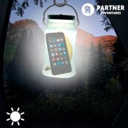 Silikonová nádoba se světlem na solární energii - Partner Adventures