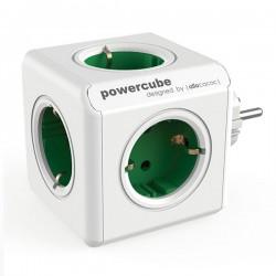 Rozbočovač Powercube - 100-250 V - 13-16 A - zelený -  Allocacoc