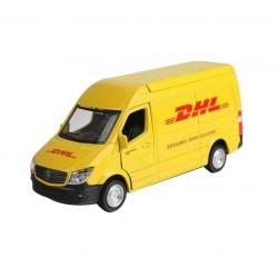 Kovové autíčko DHL Mercedes-Benz Sprinter Van s otevíracími dveřmi - 1:36