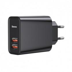 Nabíječka CCFS-E01 - USB PD 3.0 + USB QC 3.0 - 30 W - černá - Baseus