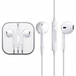 Sluchátka s mikrofonem a ovládacím panelem - bílá