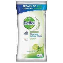 Antibakteriální ubrousky na povrchy - limetka a máta - 36 ks - Dettol