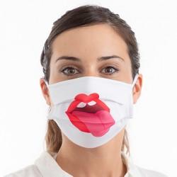 Hygienické roušky na více použití - jazyk - 3 ks - velikost M - Luanvi