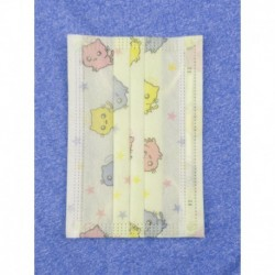 Jednorázová dětská hygienická rouška - zelená s obrázky - 10 ks