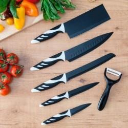 Sada nožů Top Chef - 6 ks - černé - Cecotec