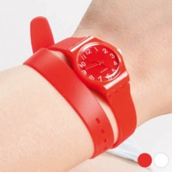 Unisex hodinky s extra dlouhým řemínkem 143969 - bílé