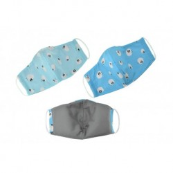Textilní rouška na více použití s ovečkami - modrá - 1 ks
