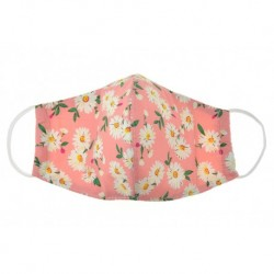 Textilní rouška na více použití s květinami - růžová
