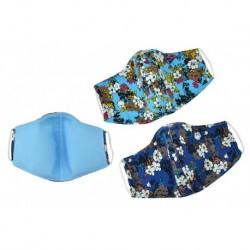 Textilní rouška na více použití s květinami - odstíny modré - 1 ks