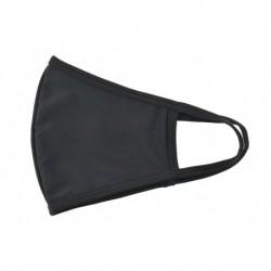 Textilní rouška na více použití - černá - 1 ks